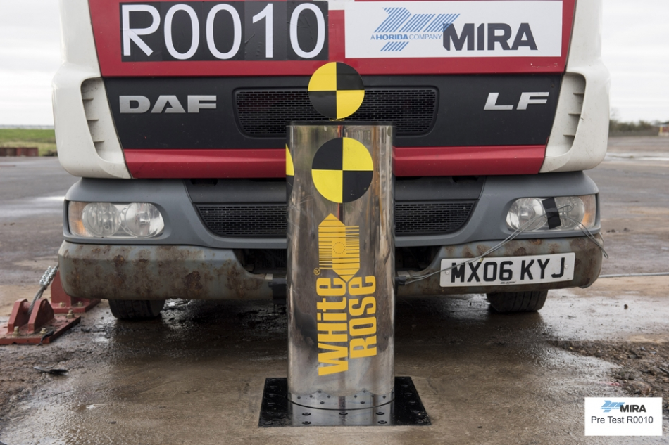 IWA14 N2A Panzer Series Rising Bollard Crash Test