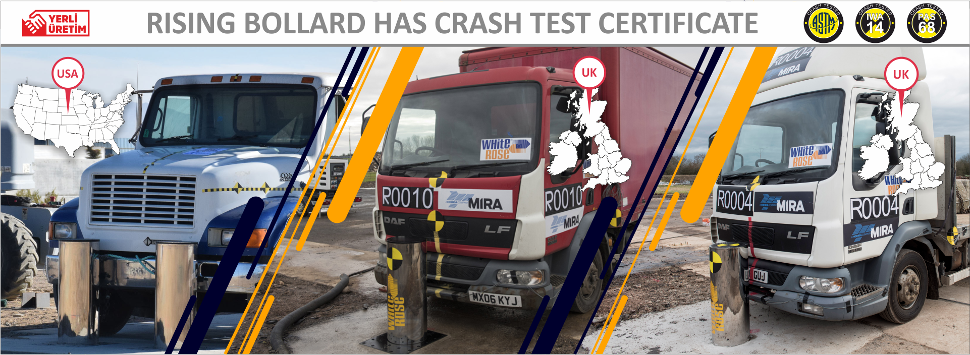 Crash Test Certified Rising Bollards